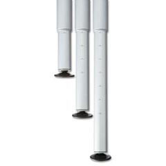 Attrayant Iceberg OfficeWorks Teaming Table Adjustable Height Leg Set, Silver/Chrome,  Pair (ICE68140)