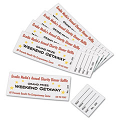 ave 16154 avery tickets with tear away stubs 1 3 4 x 5 1 2 matte