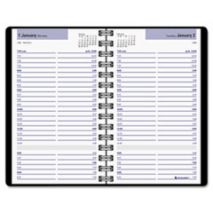 aag g10000 dayminder recycled daily appointment book black 4 7 8 x